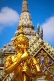 Standbeeld in Tempel stock afbeeldingen