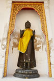 Standbeeld Thais beeld van Boedha in Phra Pathom Chedi Royalty-vrije Stock Foto's