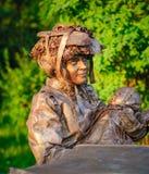 Standbeeld tijdens het Internationale Festival van het Leven Standbeelden Stock Afbeeldingen