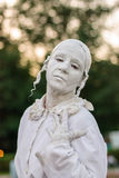 Standbeeld tijdens het Internationale Festival van het Leven Standbeelden Royalty-vrije Stock Foto