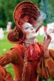 Standbeeld tijdens het Internationale Festival van het Leven Standbeelden Royalty-vrije Stock Fotografie