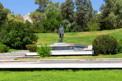 Standbeeld in Tuin - Athene, Griekenland Stock Foto