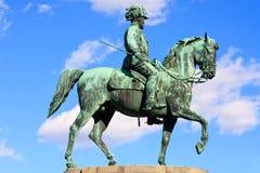 Standbeeld van aartshertog Albrecht van Oostenrijk, Wenen Stock Foto's