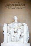 Standbeeld van Abraham Lincoln Stock Afbeeldingen