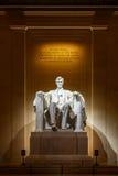 Standbeeld van Abraham Lincoln in het Gedenkteken van Lincoln Stock Afbeelding
