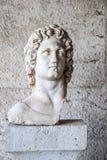 Standbeeld van Alexander Groot in Agoramuseum in Athene Griekenland Stock Foto