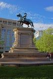 Standbeeld van algemeen Winfield Scott Hancock in Washington DC stock foto