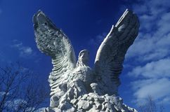 Standbeeld van Amerikaans Kaal Eagle, New York, NY Stock Afbeelding