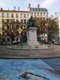 Standbeeld van andré-Marie Ampère, Lyon, Frankrijk stock afbeeldingen