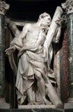 Standbeeld van Andrew de apostel Stock Foto's
