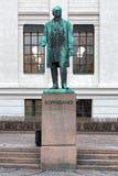 Standbeeld van Anton Martin Schweigaard in Oslo, Noorwegen Royalty-vrije Stock Foto's