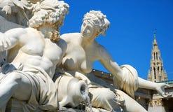 Standbeeld van Athena - Wenen royalty-vrije stock afbeelding