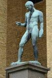 Standbeeld van atleet Stock Fotografie