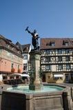 Standbeeld van Auguste Bartholdi in Colmar, Frankrijk Stock Fotografie
