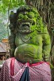Standbeeld van Balinese demon in Ubud Stock Foto