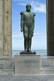 Standbeeld van Belgische koning Leopold I in De Panne, België Stock Foto