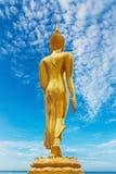 Standbeeld van Boeddhisme bij strand stock fotografie