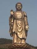 Standbeeld van Boedha royalty-vrije stock fotografie