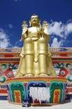 Standbeeld van Boedha in Likir-klooster in Ladakh, India Stock Afbeeldingen