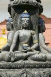 Standbeeld van Boedha in Nepal Stock Fotografie