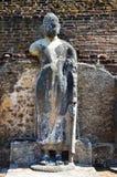 Standbeeld van Boedha in Oude Stad Polonnaruwa, Srí Lanka Stock Fotografie