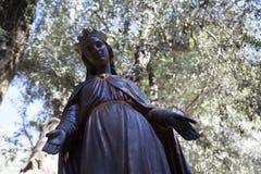 Standbeeld van brons het Maagdelijke Mary ` s bij de plaats van het Maagdelijke Huis n van Mary ` s royalty-vrije stock foto's