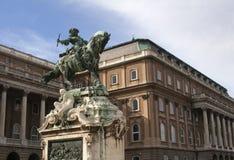Standbeeld van Buda Castle in Boedapest Royalty-vrije Stock Afbeelding