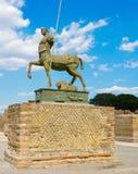 Standbeeld van Centaur in Pompei Stock Afbeelding