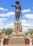 Standbeeld van Chao Anouvong in Vientiane Stock Foto's