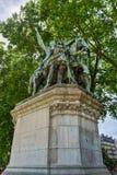 Standbeeld van Charlemagne - Parijs, Frankrijk stock foto