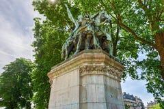 Standbeeld van Charlemagne - Parijs, Frankrijk stock fotografie