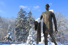 Standbeeld van Charles de Gaulle in Boekarest Royalty-vrije Stock Fotografie