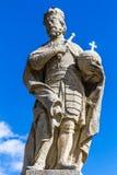 Standbeeld van Charles groot-Kutna Hora, Bohemen royalty-vrije stock fotografie