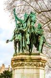 Standbeeld van Charles Grote enkel buiten gesitueerde Charlemagne stock foto's