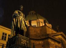 Standbeeld van Charles IV in Praag stock fotografie