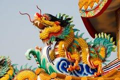 Standbeeld van Chinese draak Royalty-vrije Stock Fotografie