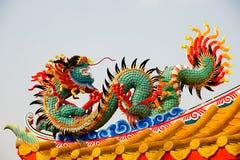 Standbeeld van Chinese draak Stock Foto's