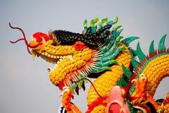 Standbeeld van Chinese draak Royalty-vrije Stock Foto's