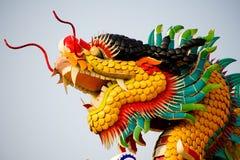 Standbeeld van Chinese draak Royalty-vrije Stock Afbeeldingen