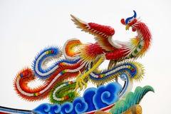 Standbeeld van Chinese draak Stock Foto