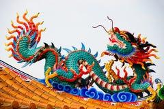 Standbeeld van Chinese draak Stock Afbeelding