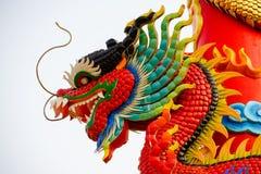 Standbeeld van Chinese draak Royalty-vrije Stock Afbeelding