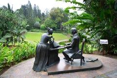 Standbeeld van Chopin bij de botanische tuin van Singapore Stock Afbeeldingen