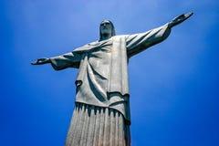 Standbeeld van Christus de Verlosser, Corcovado-Berg, Rio de Janeiro, Brazilië Stock Foto