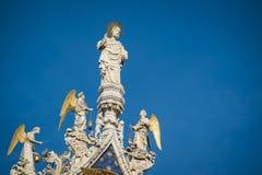 Standbeeld van Christus, de Kathedraal van San Marco, Venetië Stock Foto