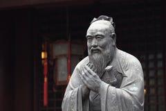 Standbeeld van Confucius royalty-vrije stock foto
