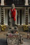 Standbeeld van Confucius in Chinese tempel Stock Afbeelding