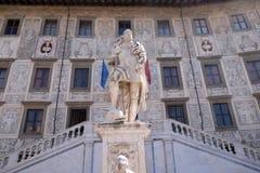 Standbeeld van Cosimo I DE Medici, Grote Hertog van Toscanië in Pisa stock afbeelding