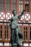 Standbeeld van Dame Justice Stock Fotografie