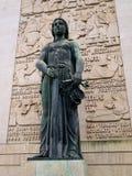 Standbeeld van Dame Justice Stock Afbeeldingen